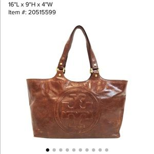 Leather Bombe Tory Burch tote